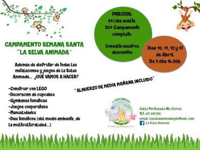 La Selva Animada organiza un campamento para los niños en Semana Santa