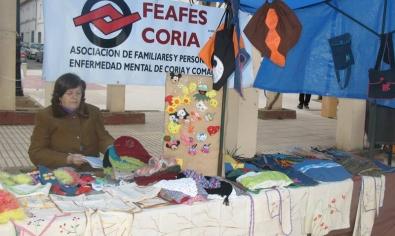 Coria acoge un mercadillo solidario con el fin de recaudar fondos