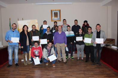Concejales, monitores y alumnos del curso