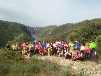 Cierran la temporada senderista con la ruta Los Miradores del Duero
