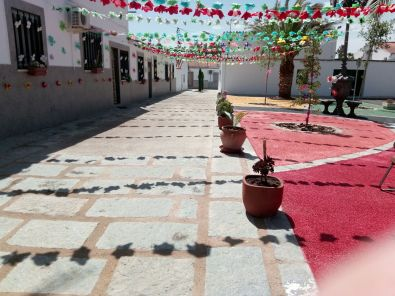 39 portales decorados con flores de papel lucieron en Rincón del Obispo